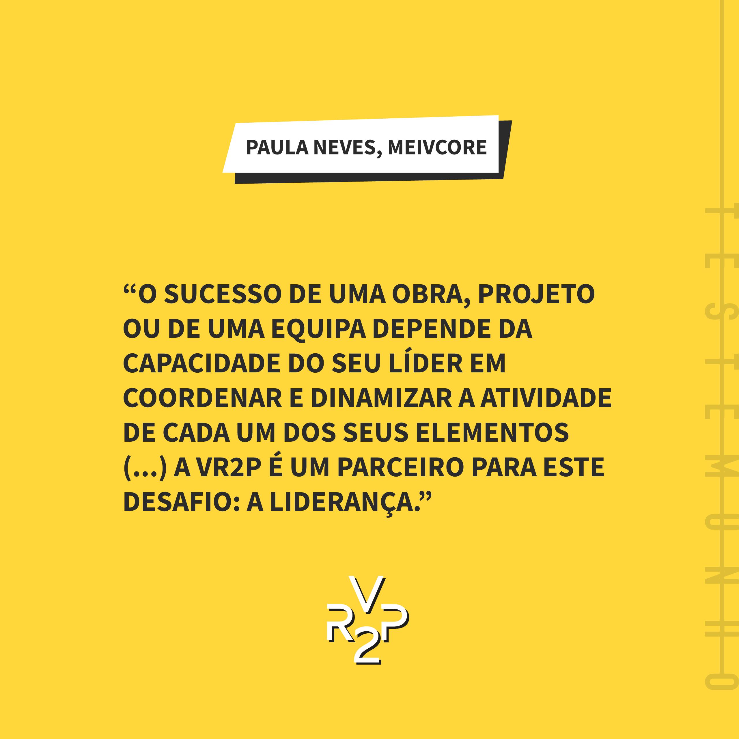 Testemunho Paula Neves – MEIVCORE